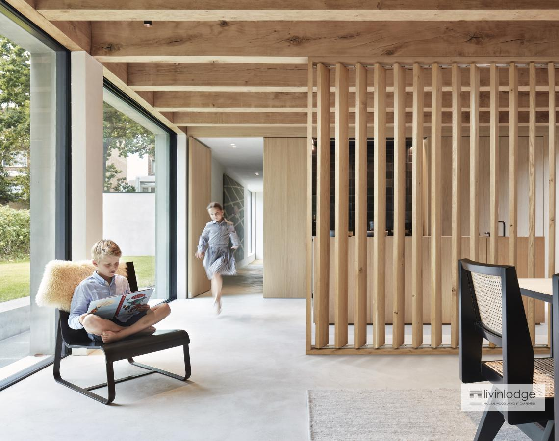Houten shutters als room divder | Livinlodge